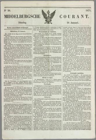 Middelburgsche Courant 1871-01-24