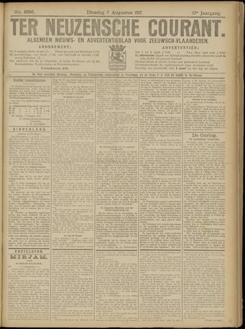 Ter Neuzensche Courant. Algemeen Nieuws- en Advertentieblad voor Zeeuwsch-Vlaanderen / Neuzensche Courant ... (idem) / (Algemeen) nieuws en advertentieblad voor Zeeuwsch-Vlaanderen 1917-08-07