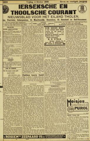 Ierseksche en Thoolsche Courant 1929-10-04