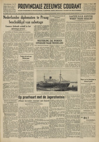 Provinciale Zeeuwse Courant 1950-03-03