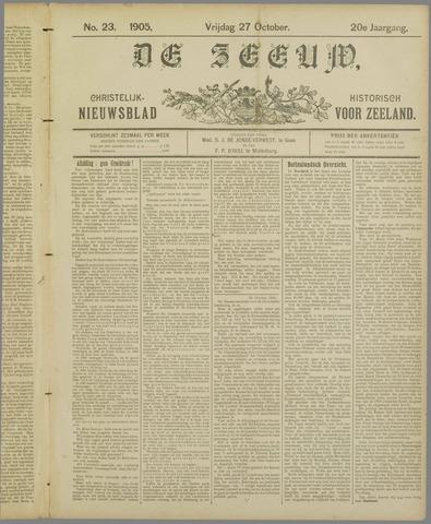 De Zeeuw. Christelijk-historisch nieuwsblad voor Zeeland 1905-10-27
