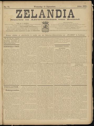 Zelandia. Nieuws-en advertentieblad voor Zeeland | edities: Het Land van Hulst en De Vier Ambachten 1902-09-10