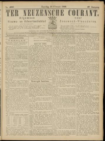 Ter Neuzensche Courant. Algemeen Nieuws- en Advertentieblad voor Zeeuwsch-Vlaanderen / Neuzensche Courant ... (idem) / (Algemeen) nieuws en advertentieblad voor Zeeuwsch-Vlaanderen 1906-02-24