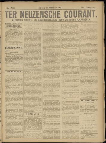 Ter Neuzensche Courant. Algemeen Nieuws- en Advertentieblad voor Zeeuwsch-Vlaanderen / Neuzensche Courant ... (idem) / (Algemeen) nieuws en advertentieblad voor Zeeuwsch-Vlaanderen 1921-02-25