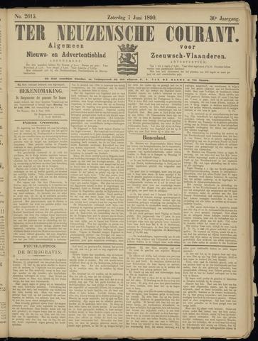 Ter Neuzensche Courant. Algemeen Nieuws- en Advertentieblad voor Zeeuwsch-Vlaanderen / Neuzensche Courant ... (idem) / (Algemeen) nieuws en advertentieblad voor Zeeuwsch-Vlaanderen 1890-06-07