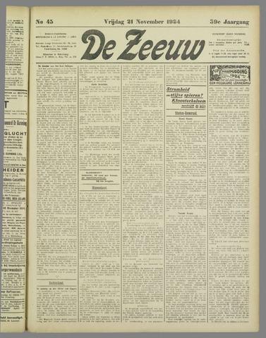 De Zeeuw. Christelijk-historisch nieuwsblad voor Zeeland 1924-11-21