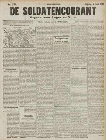 De Soldatencourant. Orgaan voor Leger en Vloot 1916-06-09