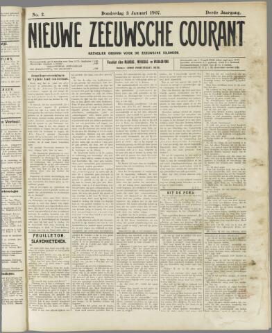 Nieuwe Zeeuwsche Courant 1907-01-03