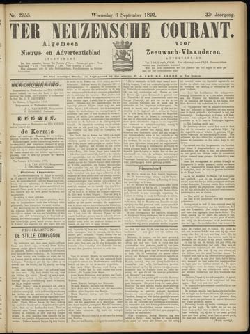 Ter Neuzensche Courant. Algemeen Nieuws- en Advertentieblad voor Zeeuwsch-Vlaanderen / Neuzensche Courant ... (idem) / (Algemeen) nieuws en advertentieblad voor Zeeuwsch-Vlaanderen 1893-09-06