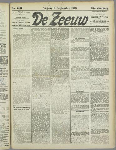 De Zeeuw. Christelijk-historisch nieuwsblad voor Zeeland 1918-09-06