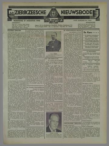 Zierikzeesche Nieuwsbode 1940-08-21