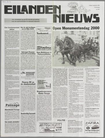 Eilanden-nieuws. Christelijk streekblad op gereformeerde grondslag 2000-09-08