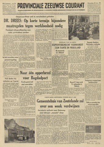 Provinciale Zeeuwse Courant 1958-01-29