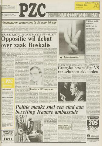 Provinciale Zeeuwse Courant 1984-09-28