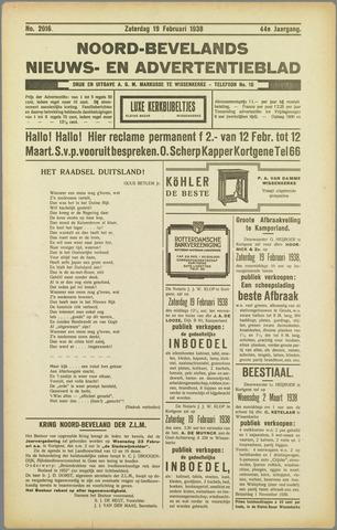 Noord-Bevelands Nieuws- en advertentieblad 1938-02-19
