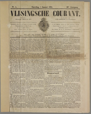 Vlissingse Courant 1881