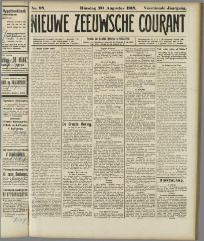 Nieuwe Zeeuwsche Courant 1918-08-20