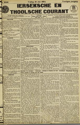 Ierseksche en Thoolsche Courant 1924-07-18