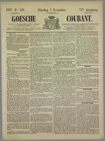 Goessche Courant 1887-11-01
