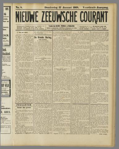 Nieuwe Zeeuwsche Courant 1918-01-17