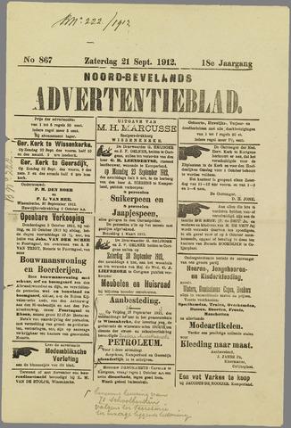Noord-Bevelands Nieuws- en advertentieblad 1912-09-21