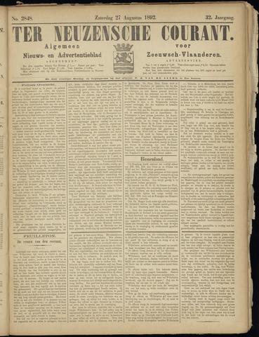 Ter Neuzensche Courant. Algemeen Nieuws- en Advertentieblad voor Zeeuwsch-Vlaanderen / Neuzensche Courant ... (idem) / (Algemeen) nieuws en advertentieblad voor Zeeuwsch-Vlaanderen 1892-08-27