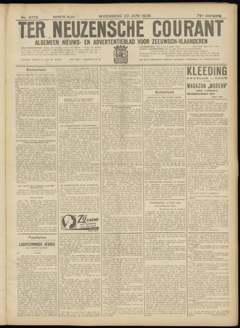 Ter Neuzensche Courant. Algemeen Nieuws- en Advertentieblad voor Zeeuwsch-Vlaanderen / Neuzensche Courant ... (idem) / (Algemeen) nieuws en advertentieblad voor Zeeuwsch-Vlaanderen 1938-06-22
