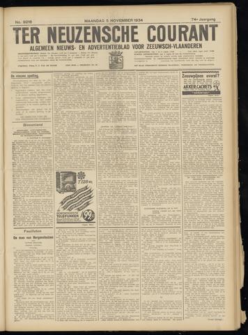 Ter Neuzensche Courant. Algemeen Nieuws- en Advertentieblad voor Zeeuwsch-Vlaanderen / Neuzensche Courant ... (idem) / (Algemeen) nieuws en advertentieblad voor Zeeuwsch-Vlaanderen 1934-11-05
