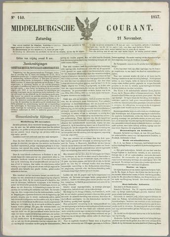 Middelburgsche Courant 1857-11-21