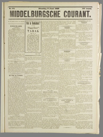 Middelburgsche Courant 1925-06-09