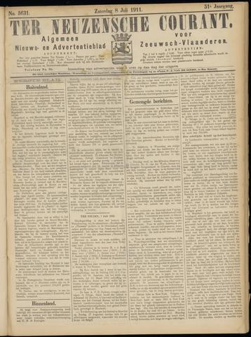 Ter Neuzensche Courant. Algemeen Nieuws- en Advertentieblad voor Zeeuwsch-Vlaanderen / Neuzensche Courant ... (idem) / (Algemeen) nieuws en advertentieblad voor Zeeuwsch-Vlaanderen 1911-07-08