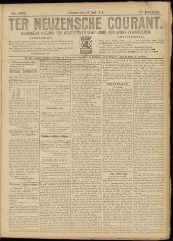 Ter Neuzensche Courant. Algemeen Nieuws- en Advertentieblad voor Zeeuwsch-Vlaanderen / Neuzensche Courant ... (idem) / (Algemeen) nieuws en advertentieblad voor Zeeuwsch-Vlaanderen 1918-07-04