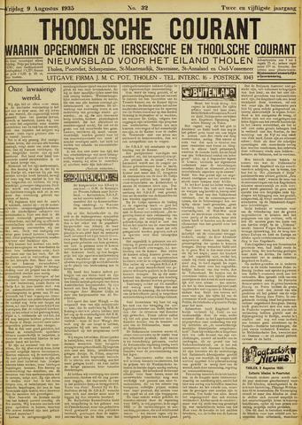Ierseksche en Thoolsche Courant 1935-08-09