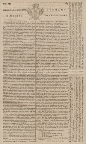 Middelburgsche Courant 1785-11-22