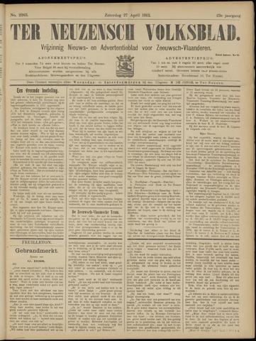 Ter Neuzensch Volksblad. Vrijzinnig nieuws- en advertentieblad voor Zeeuwsch- Vlaanderen / Zeeuwsch Nieuwsblad. Nieuws- en advertentieblad voor Zeeland 1912-04-27