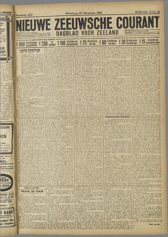 Nieuwe Zeeuwsche Courant 1922-12-27