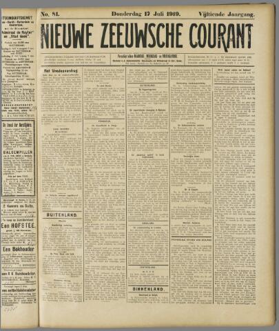 Nieuwe Zeeuwsche Courant 1919-07-17