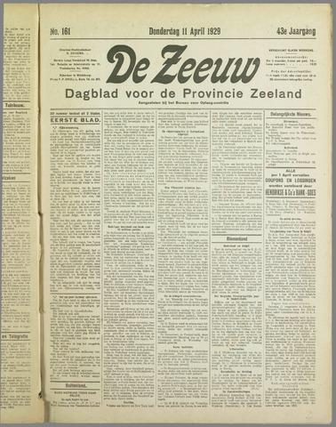 De Zeeuw. Christelijk-historisch nieuwsblad voor Zeeland 1929-04-11
