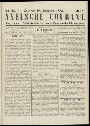 Axelsche Courant 1885-11-28