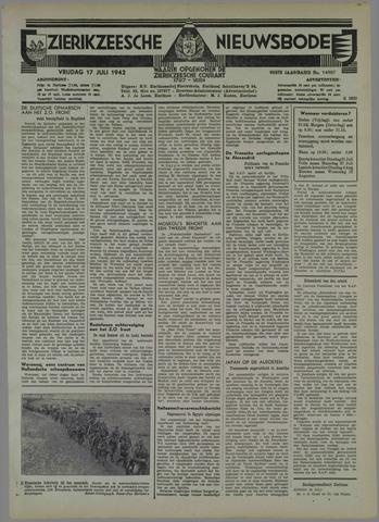 Zierikzeesche Nieuwsbode 1942-07-17