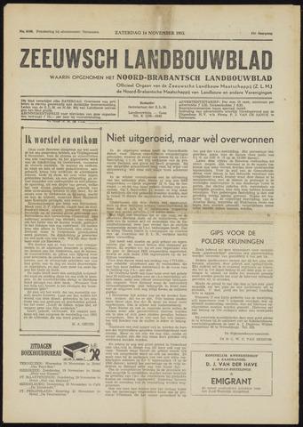 Zeeuwsch landbouwblad ... ZLM land- en tuinbouwblad 1953-11-14