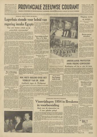 Provinciale Zeeuwse Courant 1954-07-30