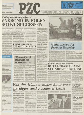Provinciale Zeeuwse Courant 1981-02-02