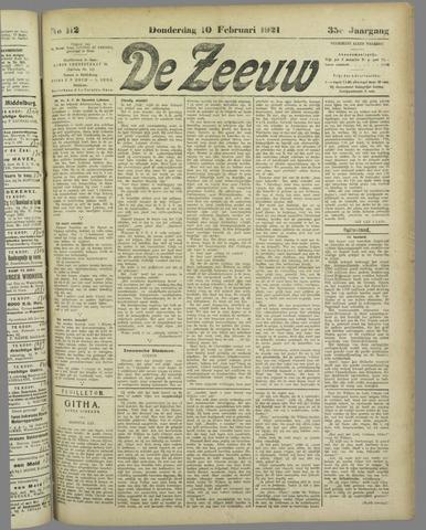 De Zeeuw. Christelijk-historisch nieuwsblad voor Zeeland 1921-02-10