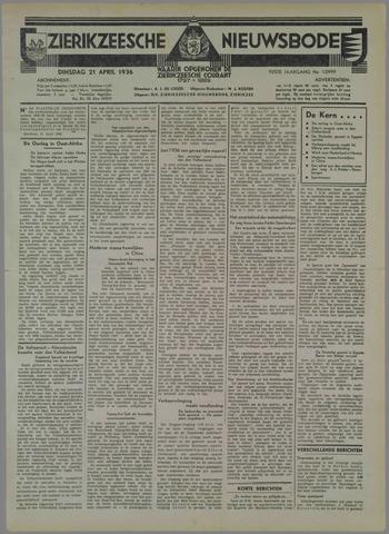 Zierikzeesche Nieuwsbode 1936-04-21