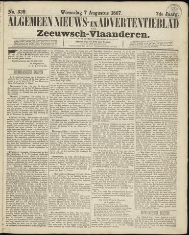 Ter Neuzensche Courant. Algemeen Nieuws- en Advertentieblad voor Zeeuwsch-Vlaanderen / Neuzensche Courant ... (idem) / (Algemeen) nieuws en advertentieblad voor Zeeuwsch-Vlaanderen 1867-08-07