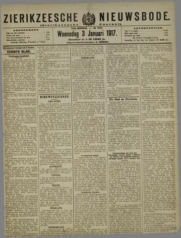 Zierikzeesche Nieuwsbode 1917-01-03