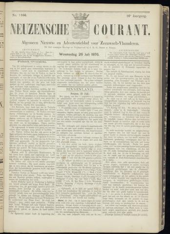 Ter Neuzensche Courant. Algemeen Nieuws- en Advertentieblad voor Zeeuwsch-Vlaanderen / Neuzensche Courant ... (idem) / (Algemeen) nieuws en advertentieblad voor Zeeuwsch-Vlaanderen 1876-07-26