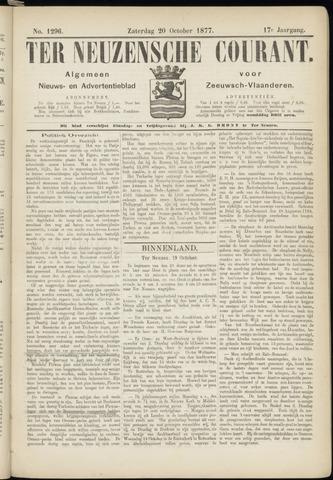 Ter Neuzensche Courant. Algemeen Nieuws- en Advertentieblad voor Zeeuwsch-Vlaanderen / Neuzensche Courant ... (idem) / (Algemeen) nieuws en advertentieblad voor Zeeuwsch-Vlaanderen 1877-10-20