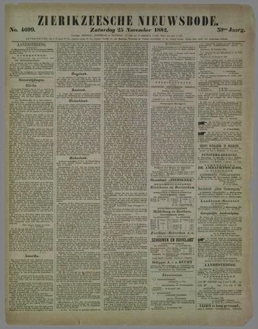 Zierikzeesche Nieuwsbode 1882-11-25